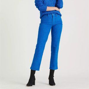 LUCKY BRAND Mid Rise Straight Crop Corduroy Jeans